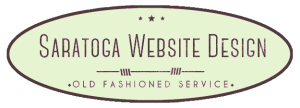 Saratoga Website Design Green Oval Logo