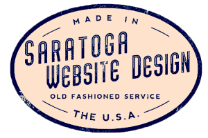 Red Saratoga Website Design Logo