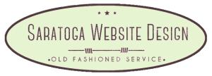 Saratoga Website Design Green Oval Logo